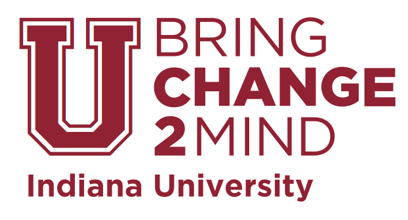 Red Indiana University Bring Change 2 Mind Logo